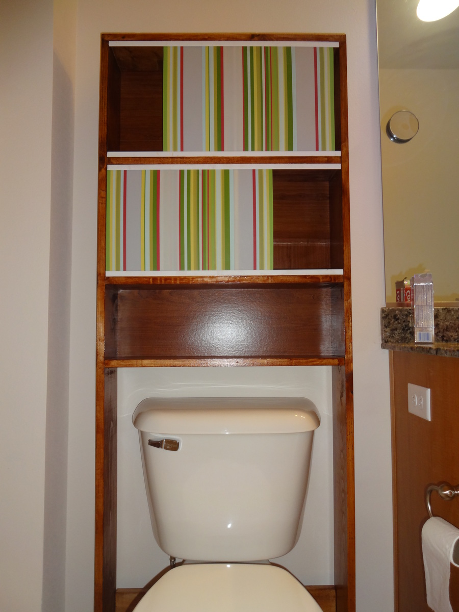 Wonderful Over Toilet Shelf Storage Bathroom Heirloom Pine