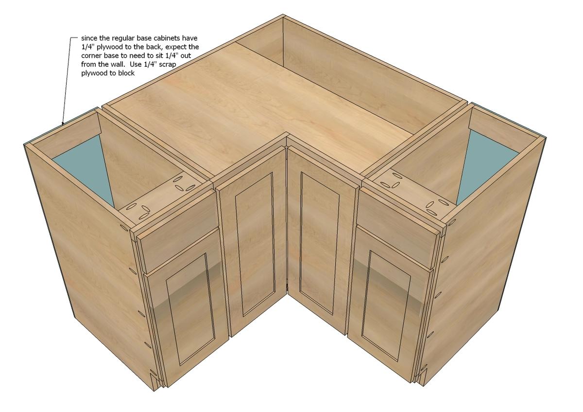 """36"""" Corner Base Pie Cut Kitchen Cabinet - Momplex White ..."""