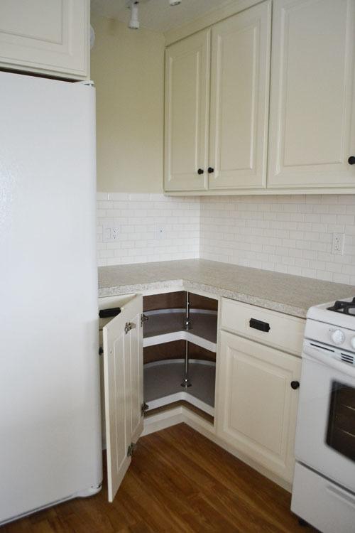36 Corner Base Pie Cut Kitchen Cabinet Momplex White