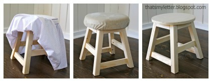 Ana White Kids Vanity Stool Amp Slipcover Diy Projects