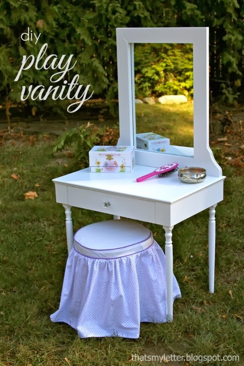 Ana white stair baluster play vanity diy projects for Diy play table plans