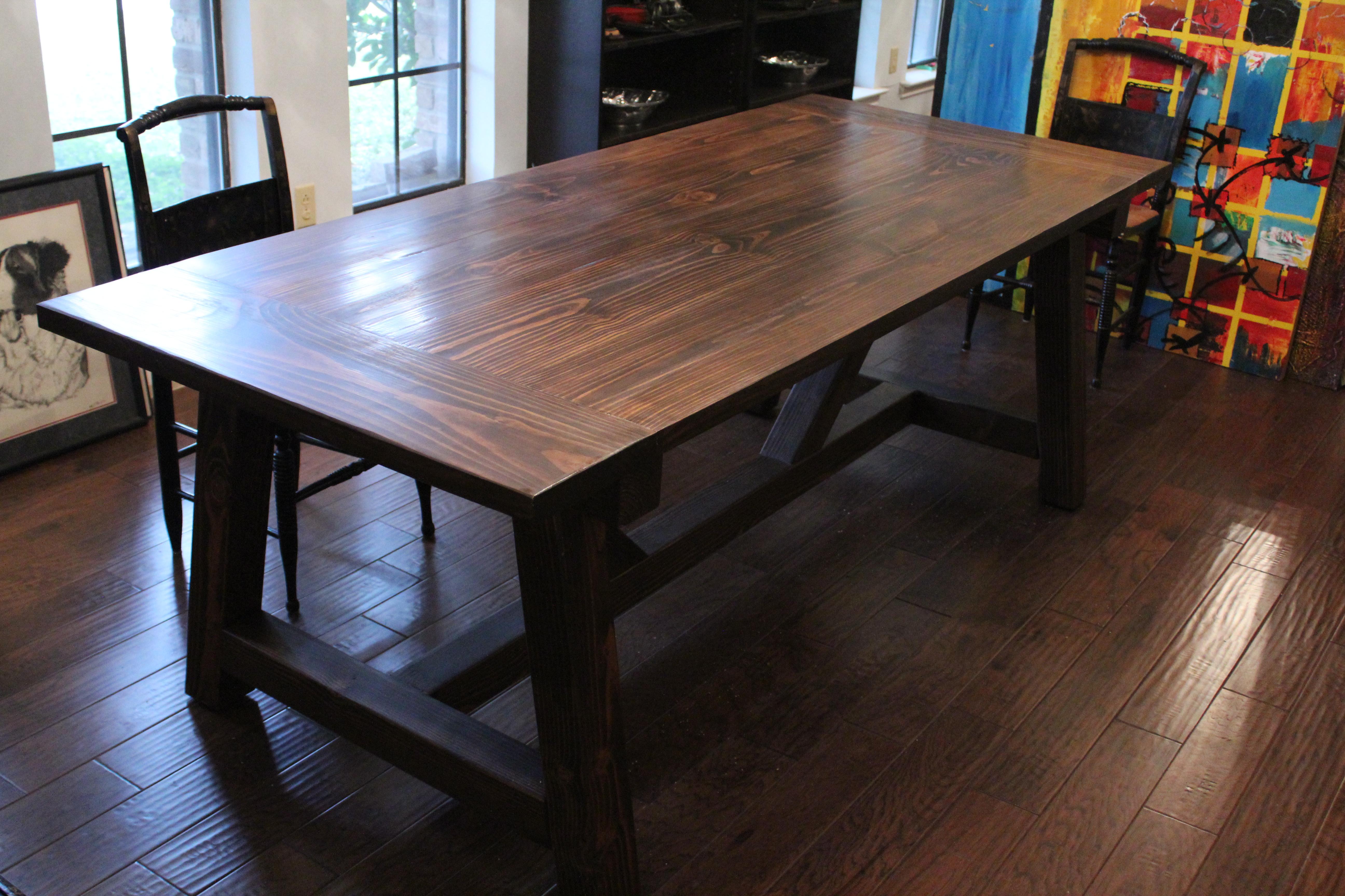 Super 4X4 Truss Beam Table Ana White Machost Co Dining Chair Design Ideas Machostcouk