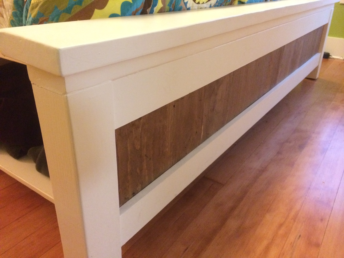 King Size Farmhouse Storage Bed From 2 Ana White Plans
