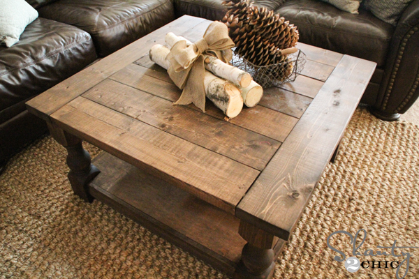 ana white | corona coffee table - square - diy projects Build Your Own Coffee Table Plans