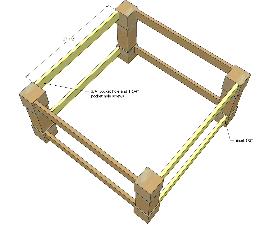 Ana white corona coffee table square diy projects for Coffee table instructions