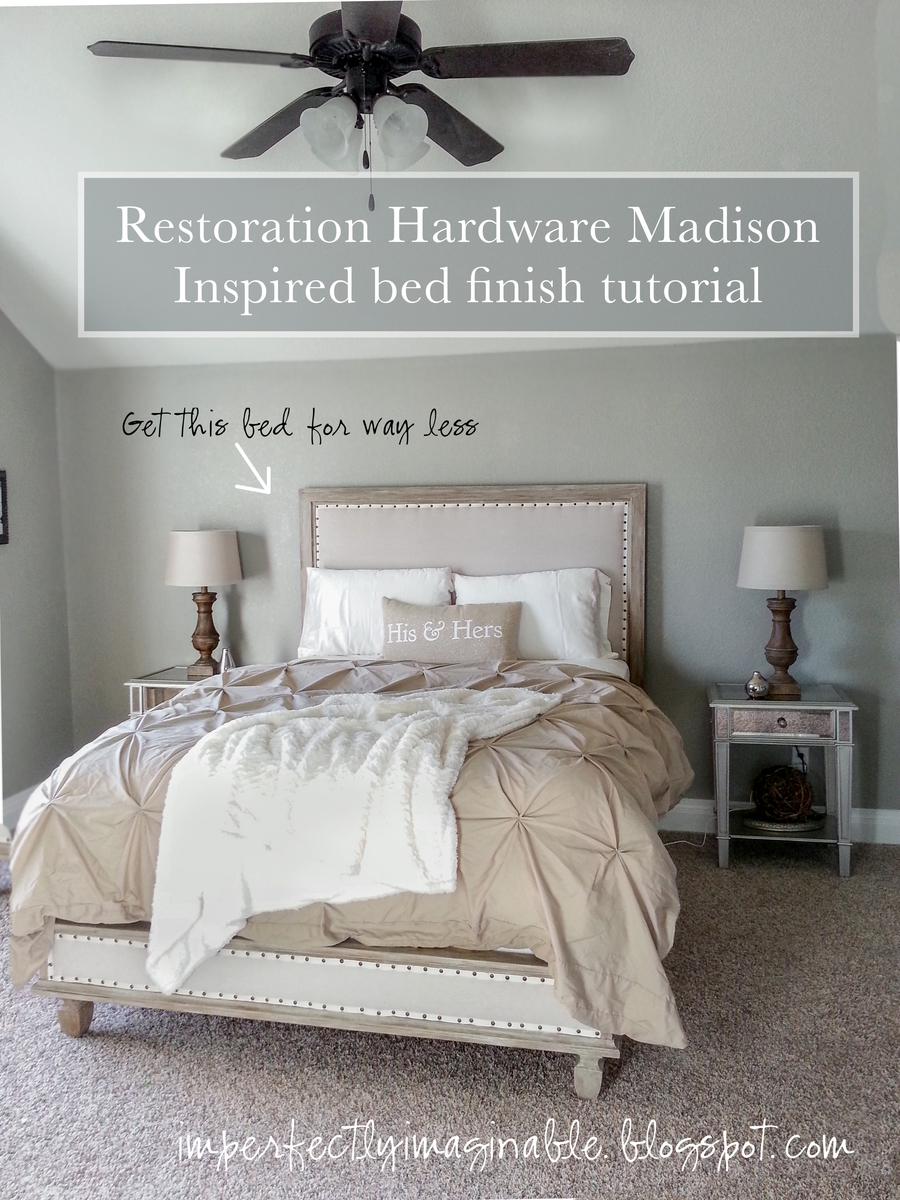 ana white restoration hardware inspired maison bed tutorial and finish starting with anas platform base diy projects