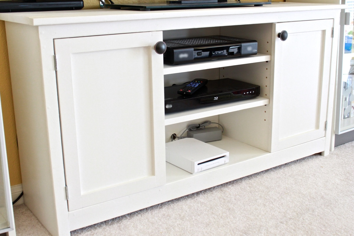 Media Console From The Handbuilt Home