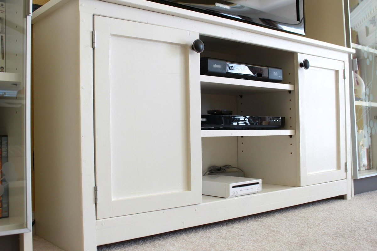 Ana white media console from the handbuilt home diy White media console
