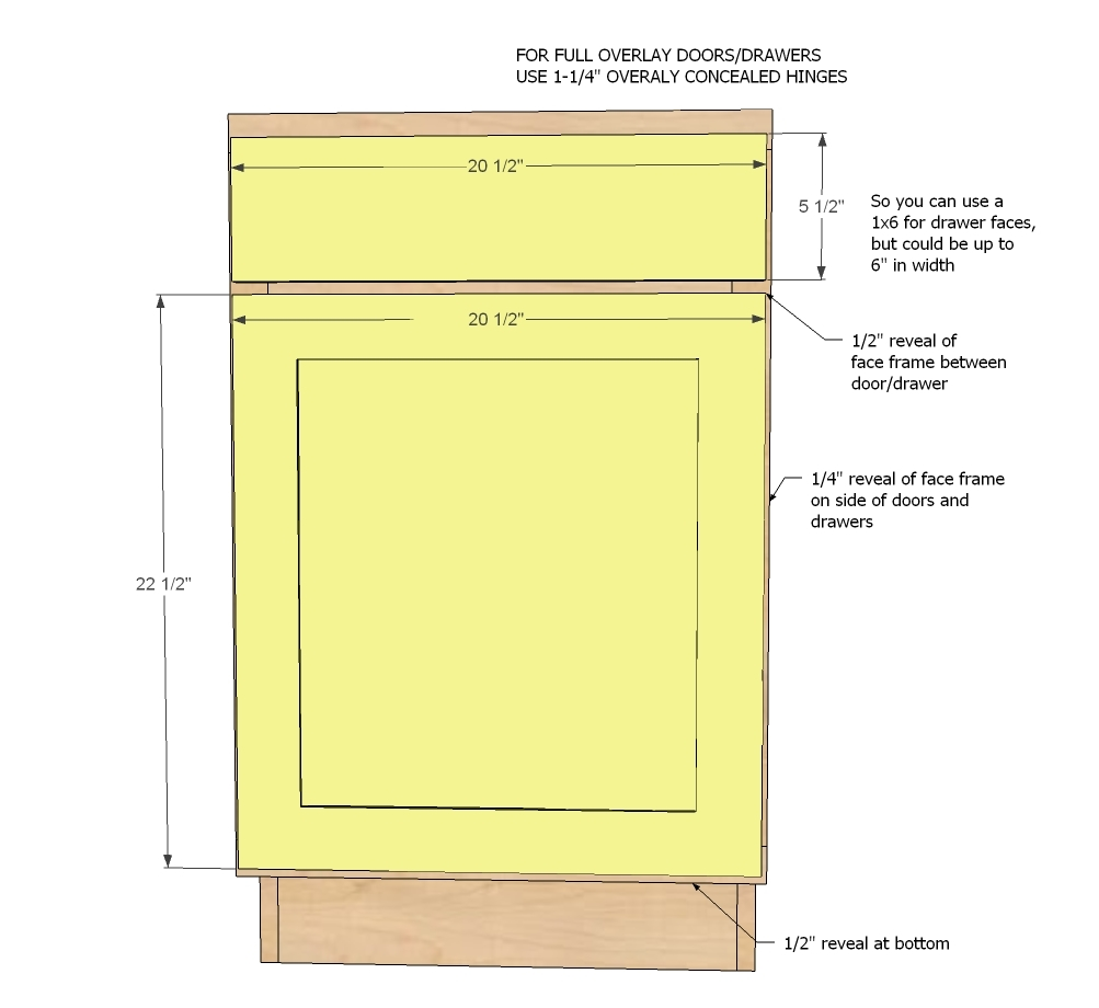 "Kitchen Cabinet Dimensions: 21"" Base Cabinet Door/Drawer Combo (Momplex White Kitchen"