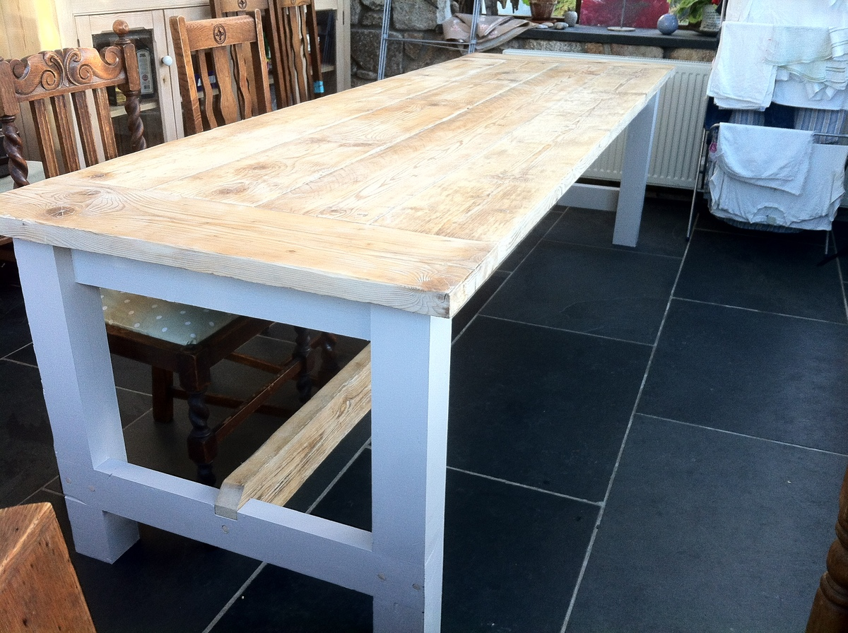 Garden Furniture Made From Scaffolding Planks ana white | reclaimed timber farmhouse table - first build - diy