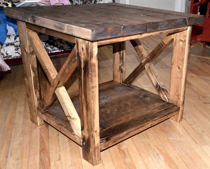 Rustic X Side Table - DIY Projects