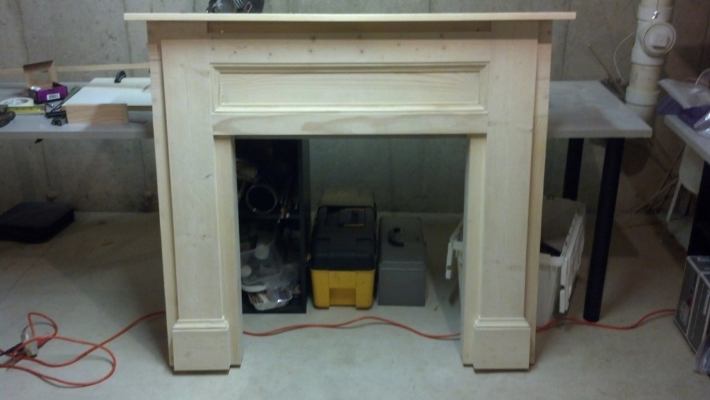 Fireplace Design faux fireplace : Ana White | My faux fireplace build - DIY Projects