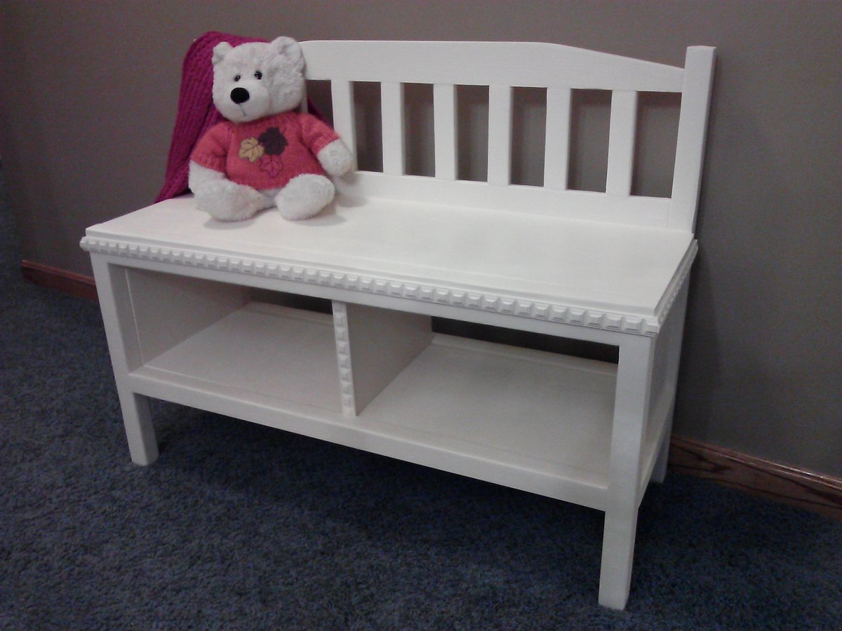Ana White Cottage Bench With Storage Cubbies For Girls 39 Room Diy Projects