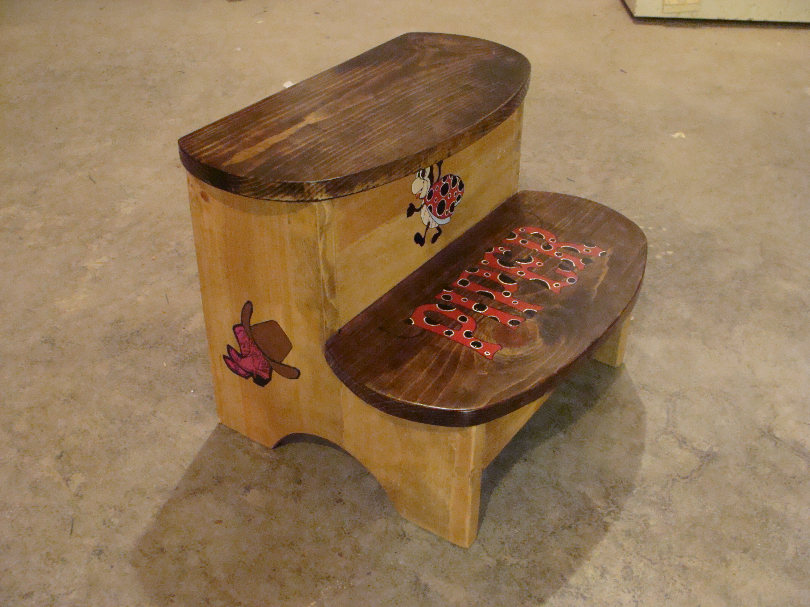 personalized engraved stools step designs toddler kid stool princess wooden x custom for kids childrens