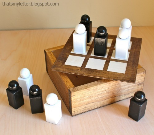 small woodworking projects free plans. diy wood tic-tac-toe gift set tutorial! free plans from ana-white.com small woodworking projects