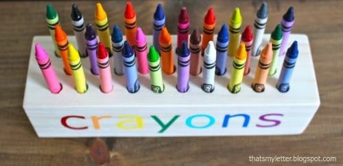 And We Staggered The Crayons Holes So Little Hands Can Reach Each Crayon Easier