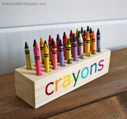 ... White | Easy Scrap Wood Crayon or Pencil Block Holder - DIY Projects