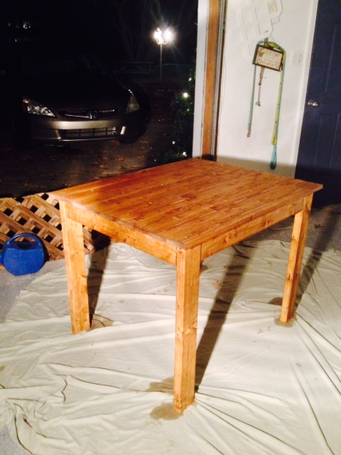 Ana white 2x4 table diy projects for Dining room table 2x4