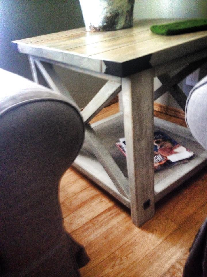 Rustic X Coffee And End Tables - DIY Projects