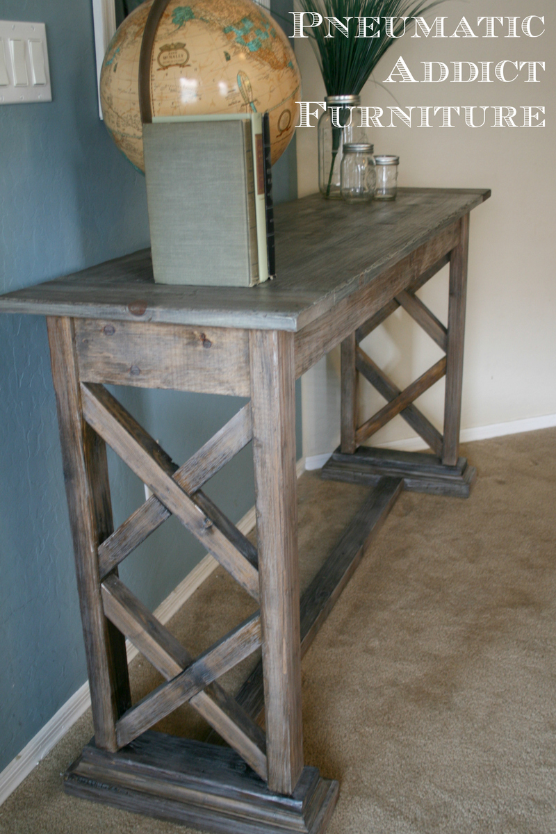 Ana White Double X Trestle Console Diy Projects