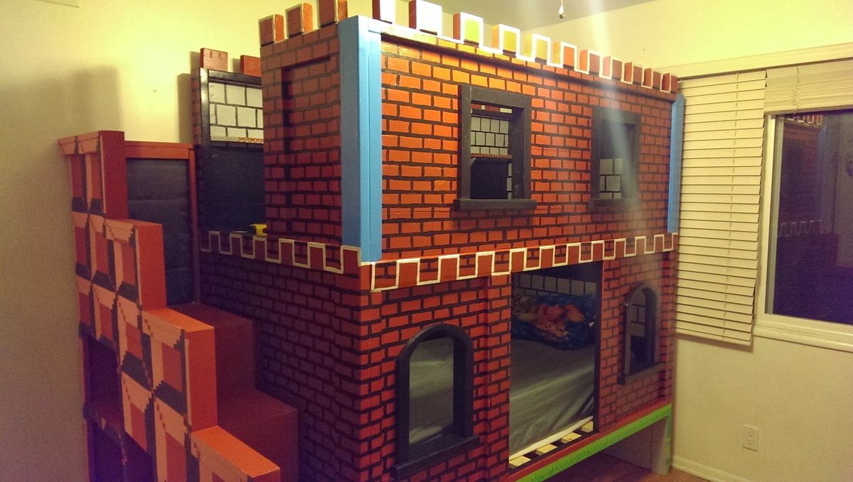 Ana White | Mario Castle Bunk - DIY Projects
