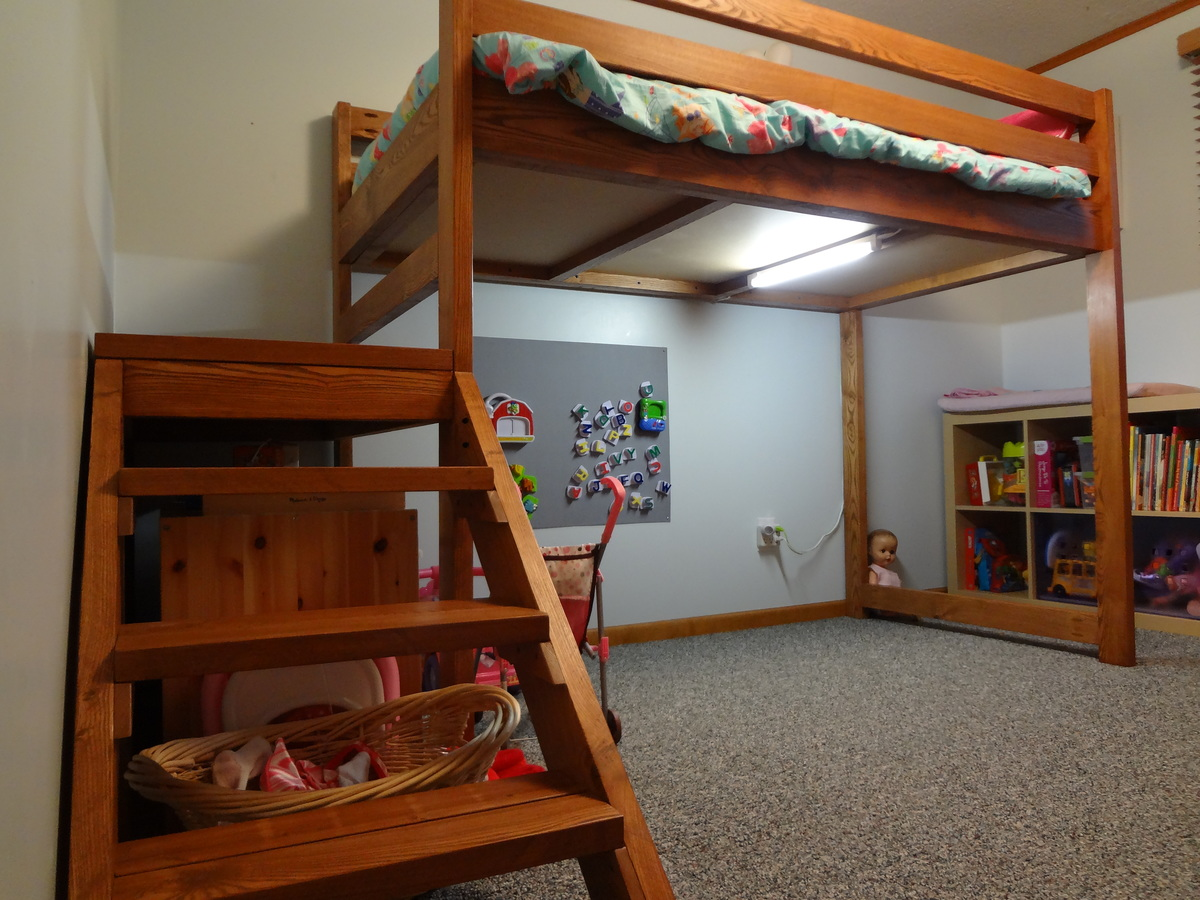 Ana White Camp Loft Bed Diy Projects