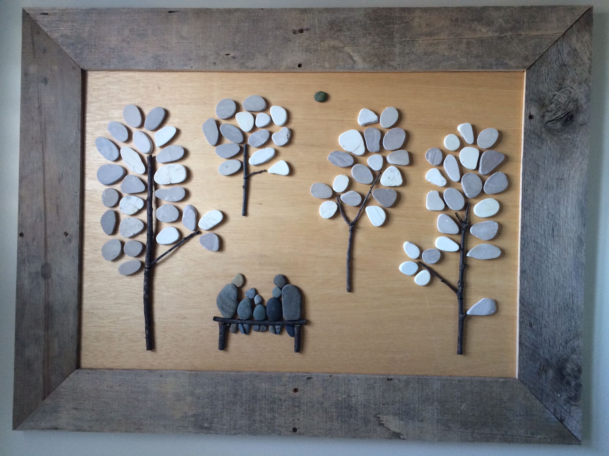 Ana white pebble art with pallet wood diy projects pebble art with pallet wood solutioingenieria Gallery