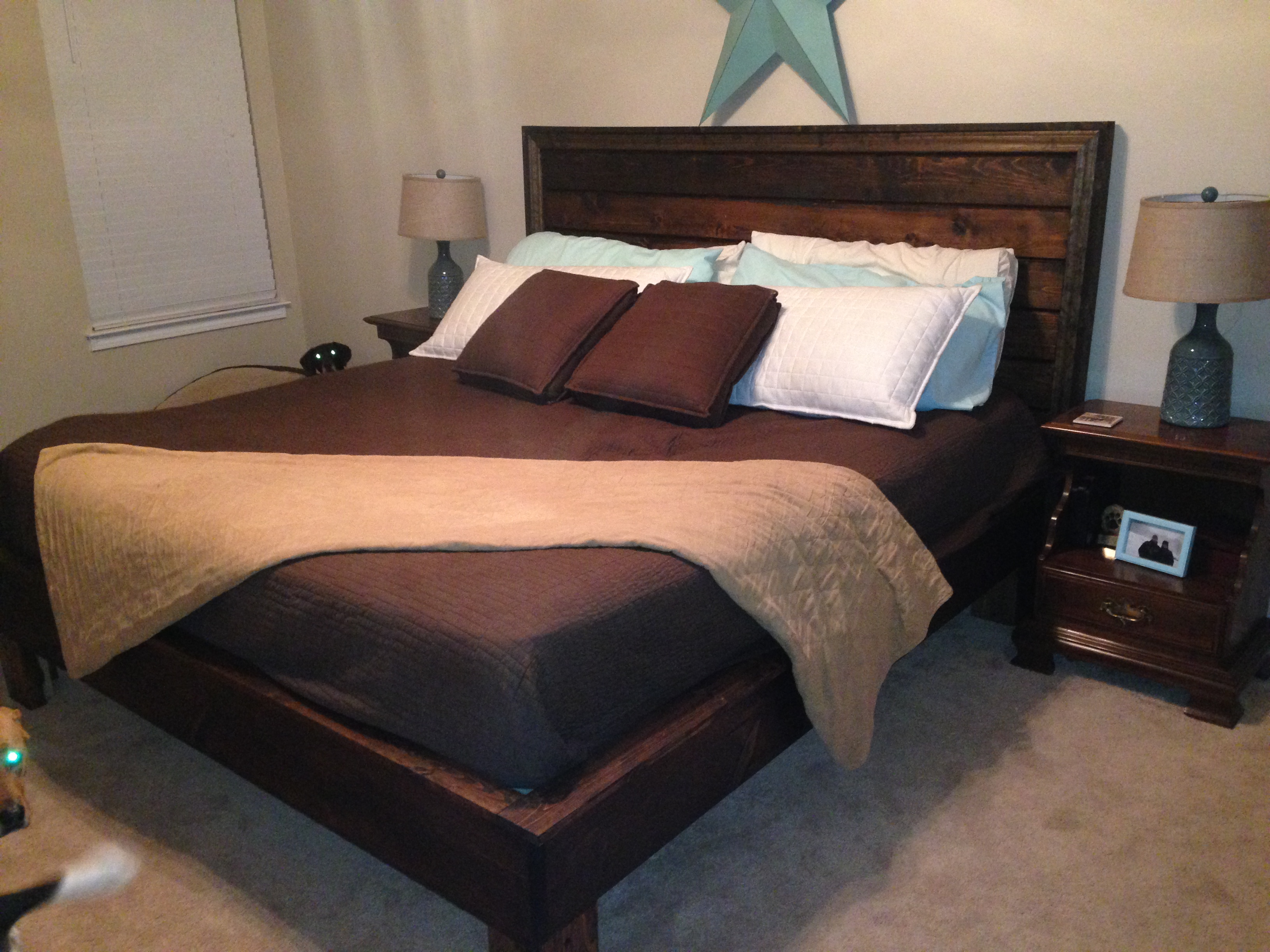 Ana White King Sized Hailey Bed Customized Diy Projects