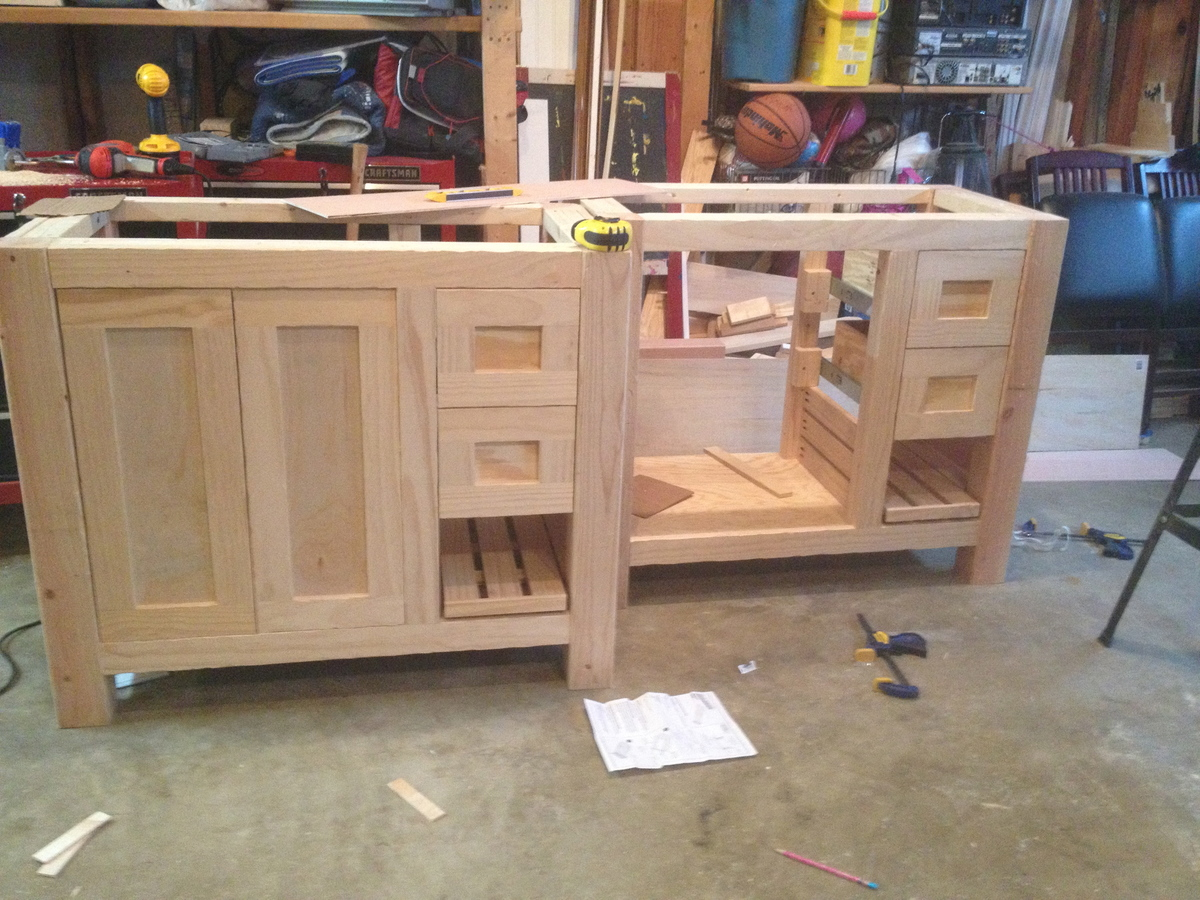 how to build a bathroom vanity cabinet white bathroom vanities diy projects 16795
