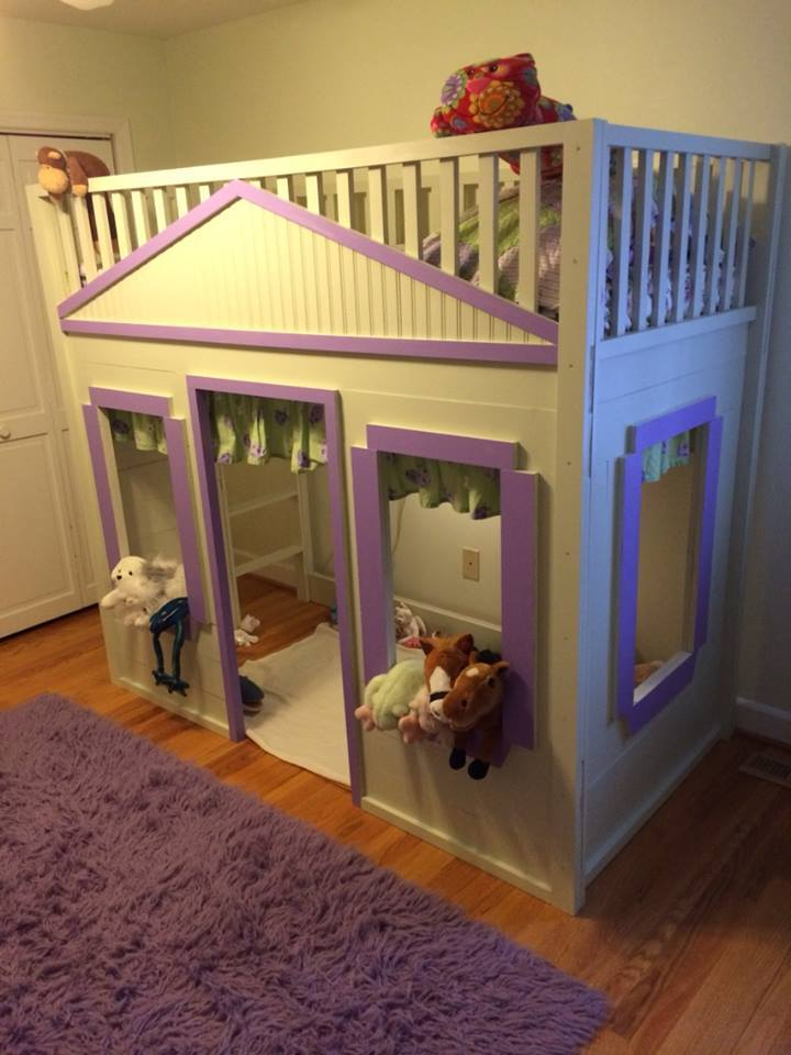 Ana White Little Cottage Loft Bed Animal House Diy