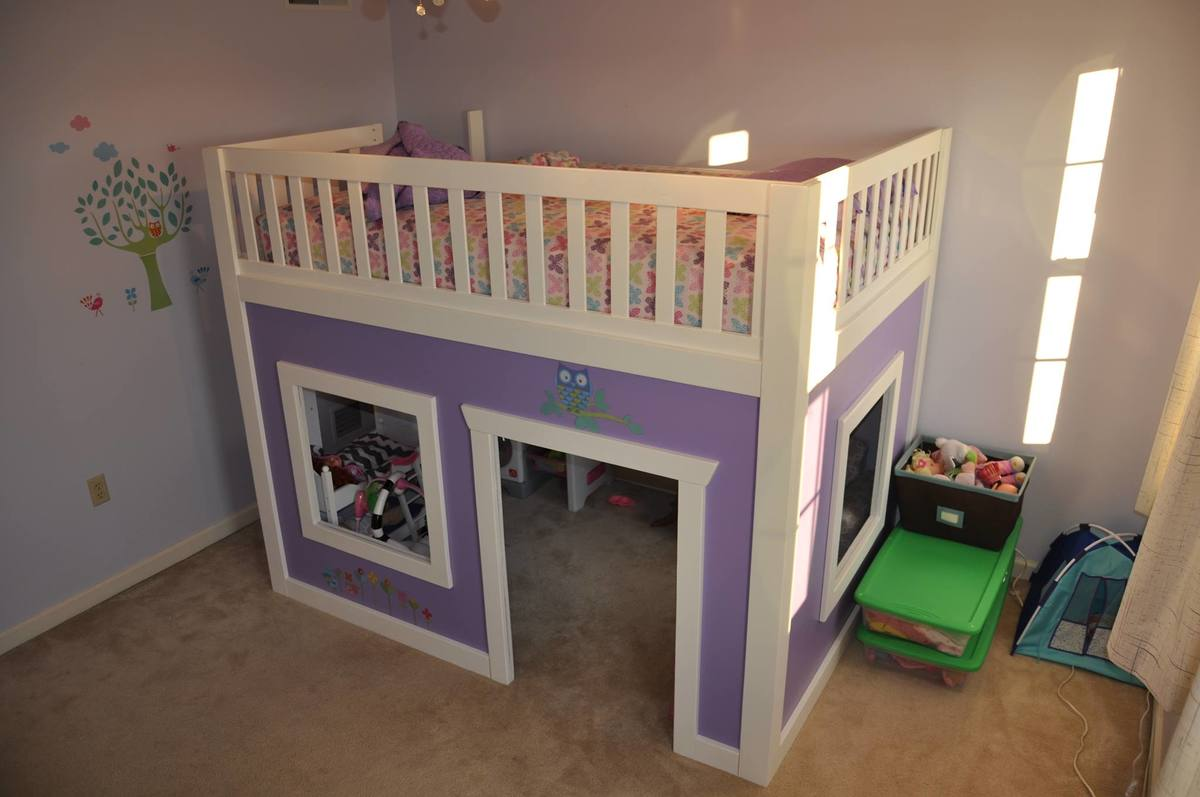 Ana White Playhouse Loft Bed Full Size Diy Projects