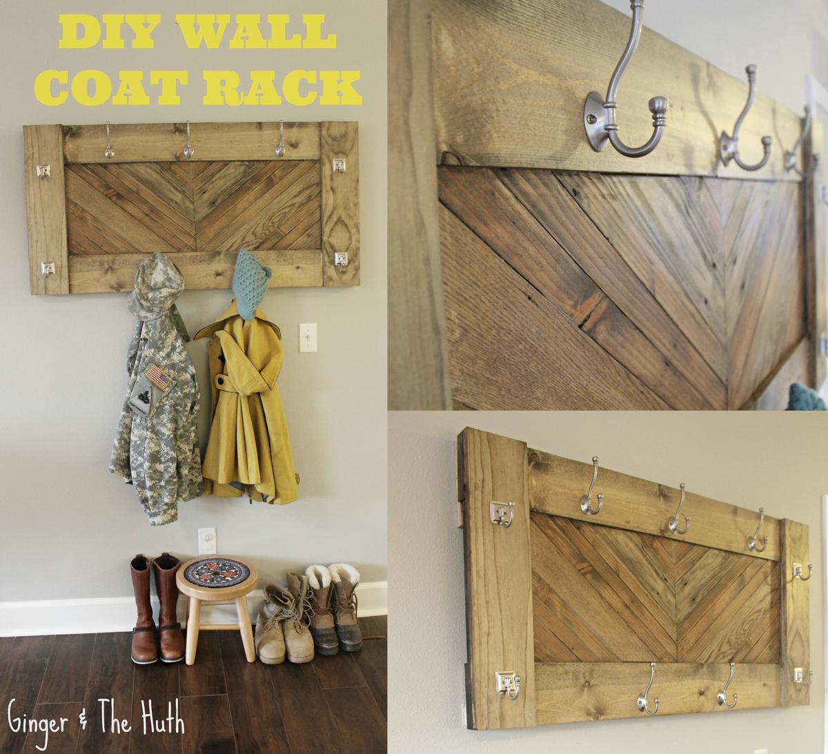 Ana White Herringbone Wall Coat Rack Diy Projects