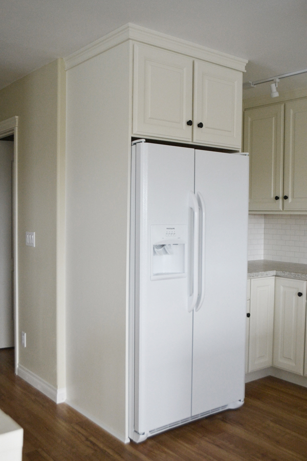 I Ll Be Sharing Next How We Used This Cabinet To Box In The Fridge Completely As Well