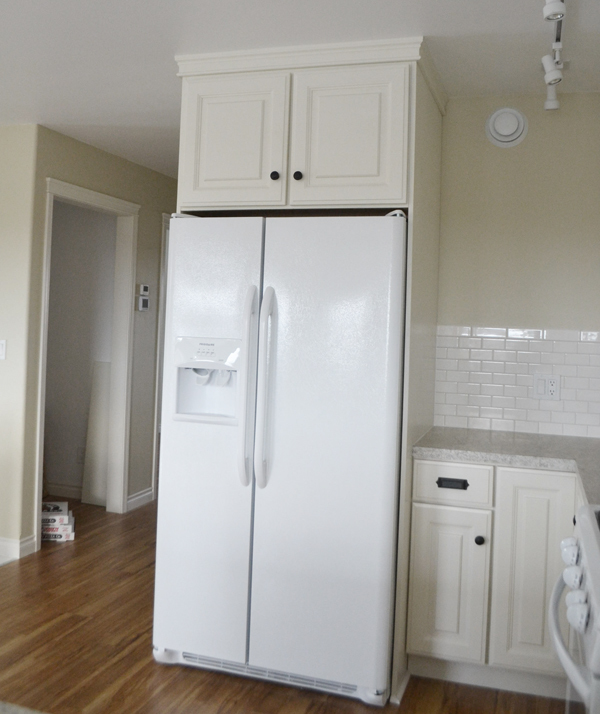 Free Plans To Build Your Own Kitchen Cabinets Standard Sized Above The Fridge Cabinet From Ana White