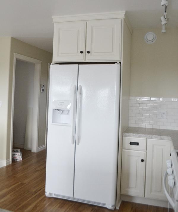 36 X 15 X 24 Above Fridge Wall Kitchen Cabinet Momplex Vanilla Kitchen Ana White