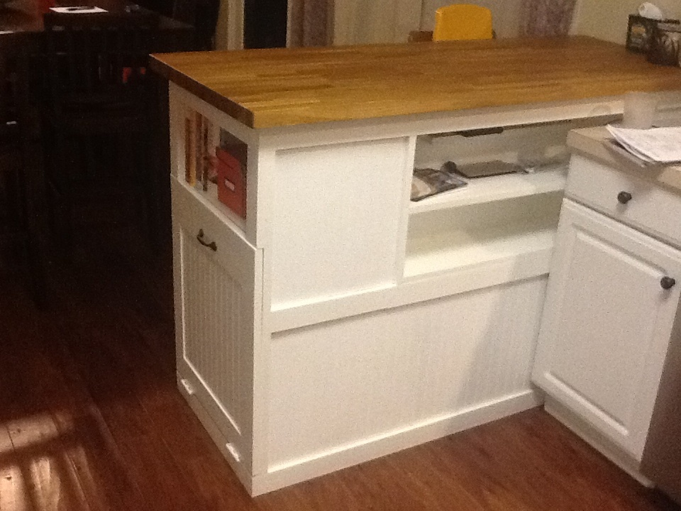 Ana White Kitchen Breakfast Bar With Built In Trash