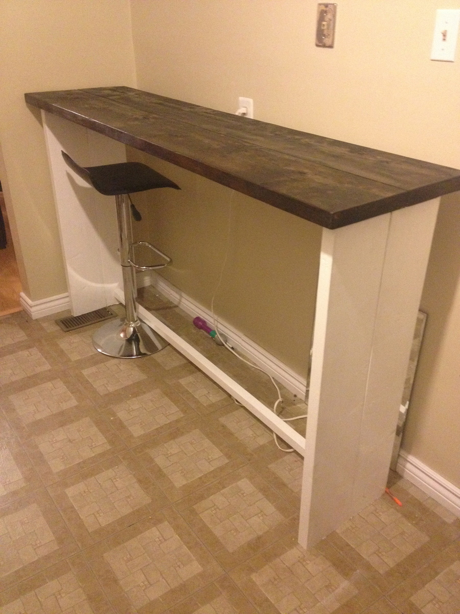 Ana White Lets Make A Bar Table Diy Projects