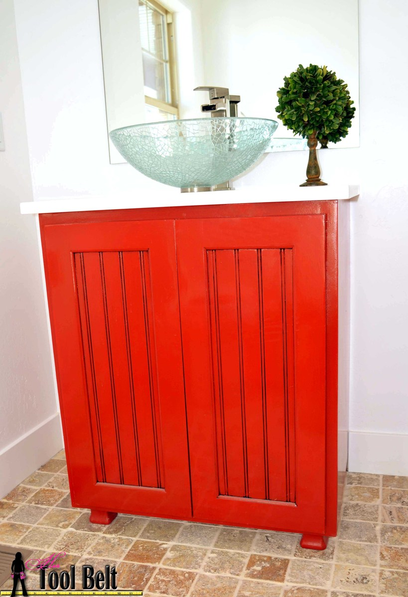 Paprika vanity sink cabinet plans. Ana White   Vanity Sink Cabinet Plan   DIY Projects