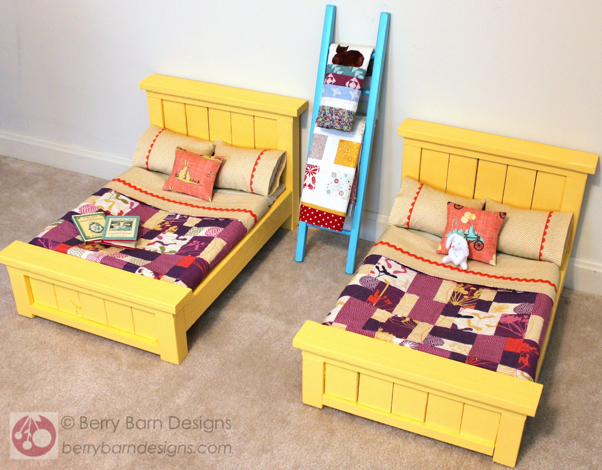 Do It Yourself Home Design: Doll Farmhouse Bed - DIY Projects