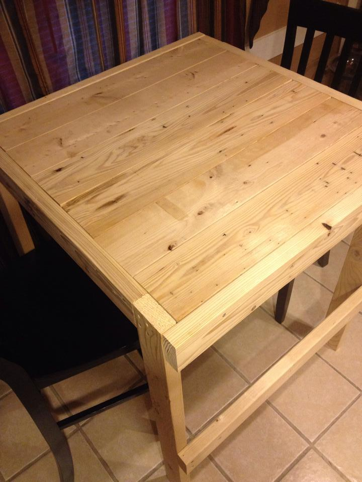 Ana White Square Modern Farmhouse Table Diy Projects