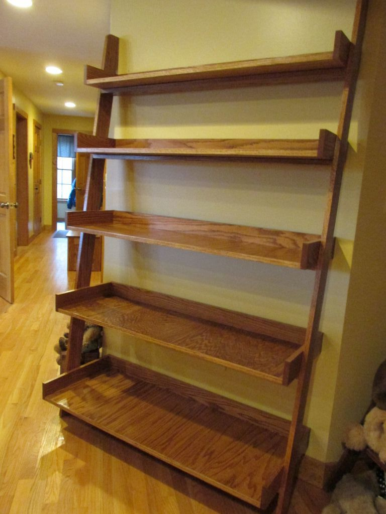 Ana White Leaning Shelf Project Diy Projects