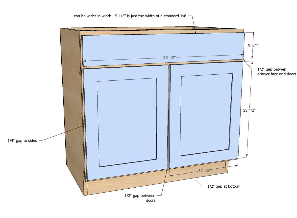 """36"""" Sink Base Kitchen Cabinet"""