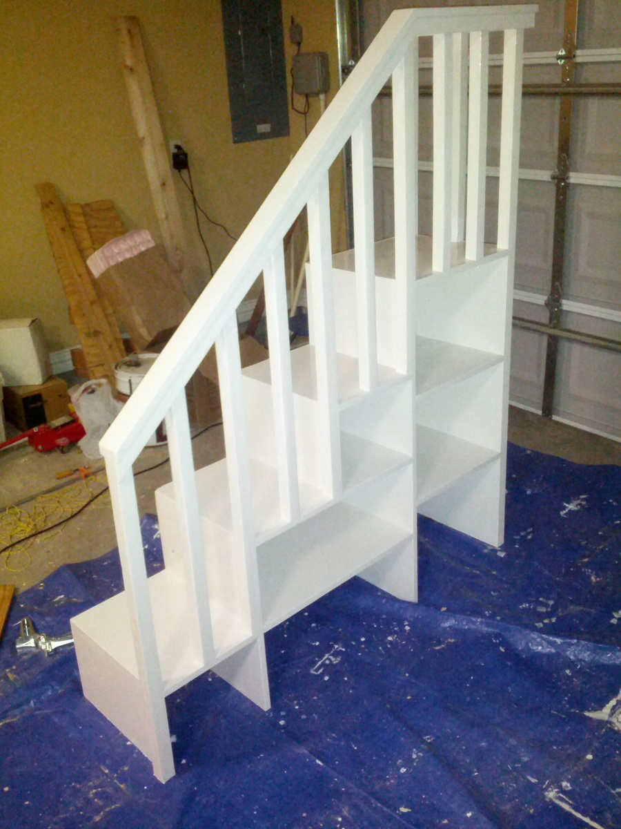 Ana White Classic Bunk Bed With Sweet Pea Stairs Diy Projects