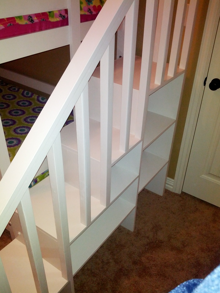 Ana White Classic Bunk Bed With Sweet Pea Stairs Diy