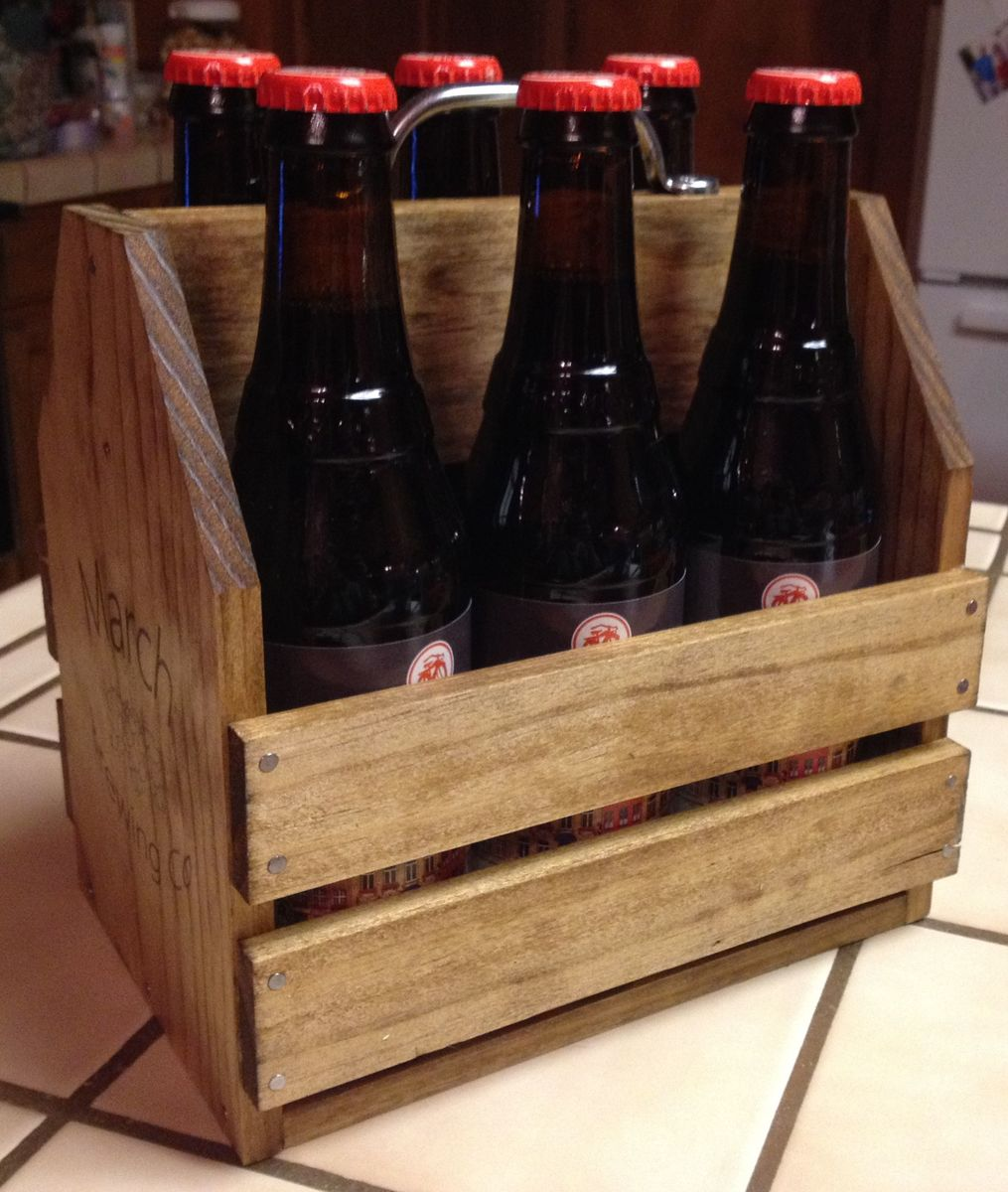 Diy wood beer carrier diy do it your self for Six pack holder template