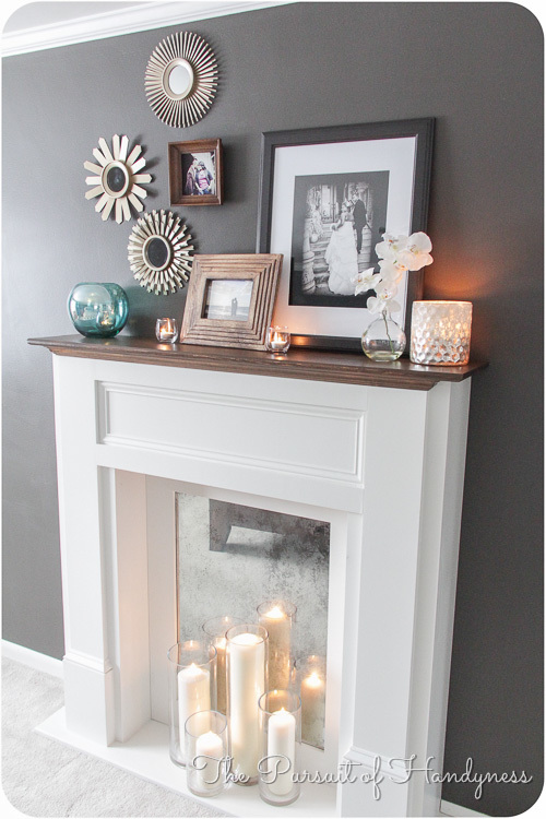 ana white diy faux mantle fireplace diy projects. Black Bedroom Furniture Sets. Home Design Ideas