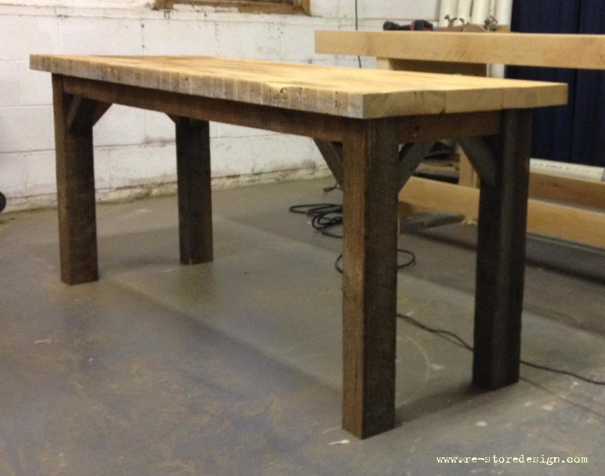 Farm Table With 45 Degree Angle Supports Ana White
