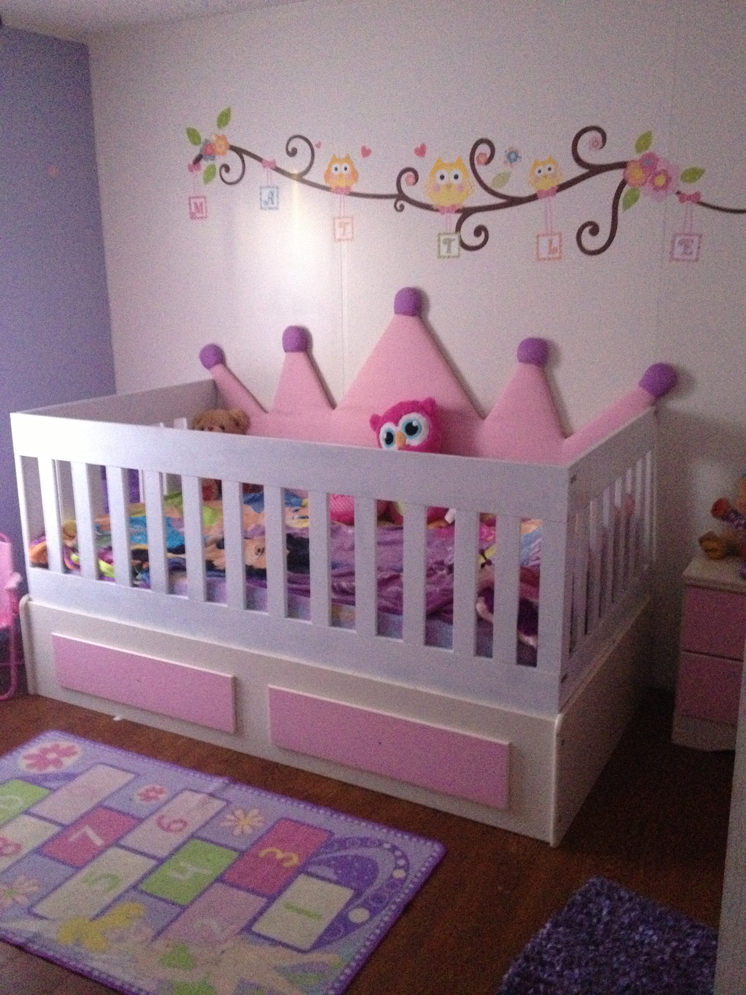 Converted A Ashley Twin Size Bed Into Twin Size Crib Ana White