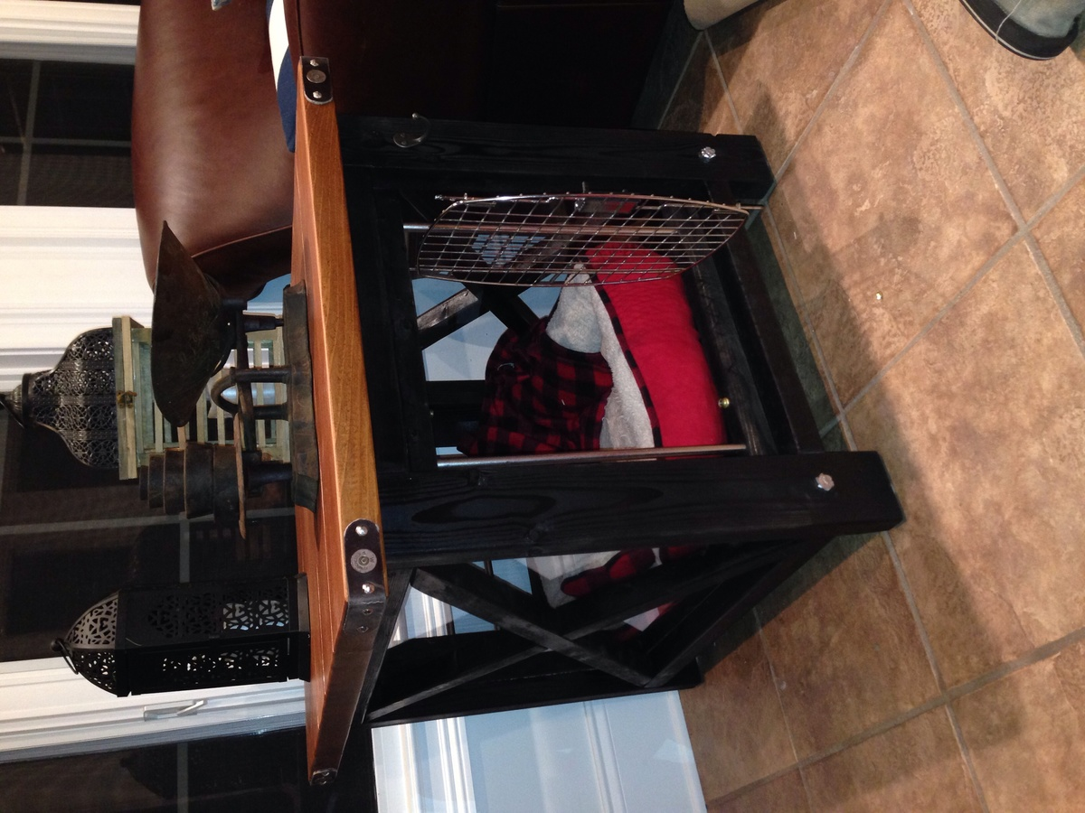Rustic X End Table As A Dog Crate Ana White
