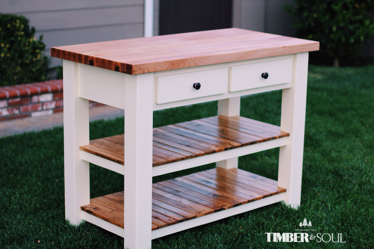 Butcher Block Kitchen Island Ana White
